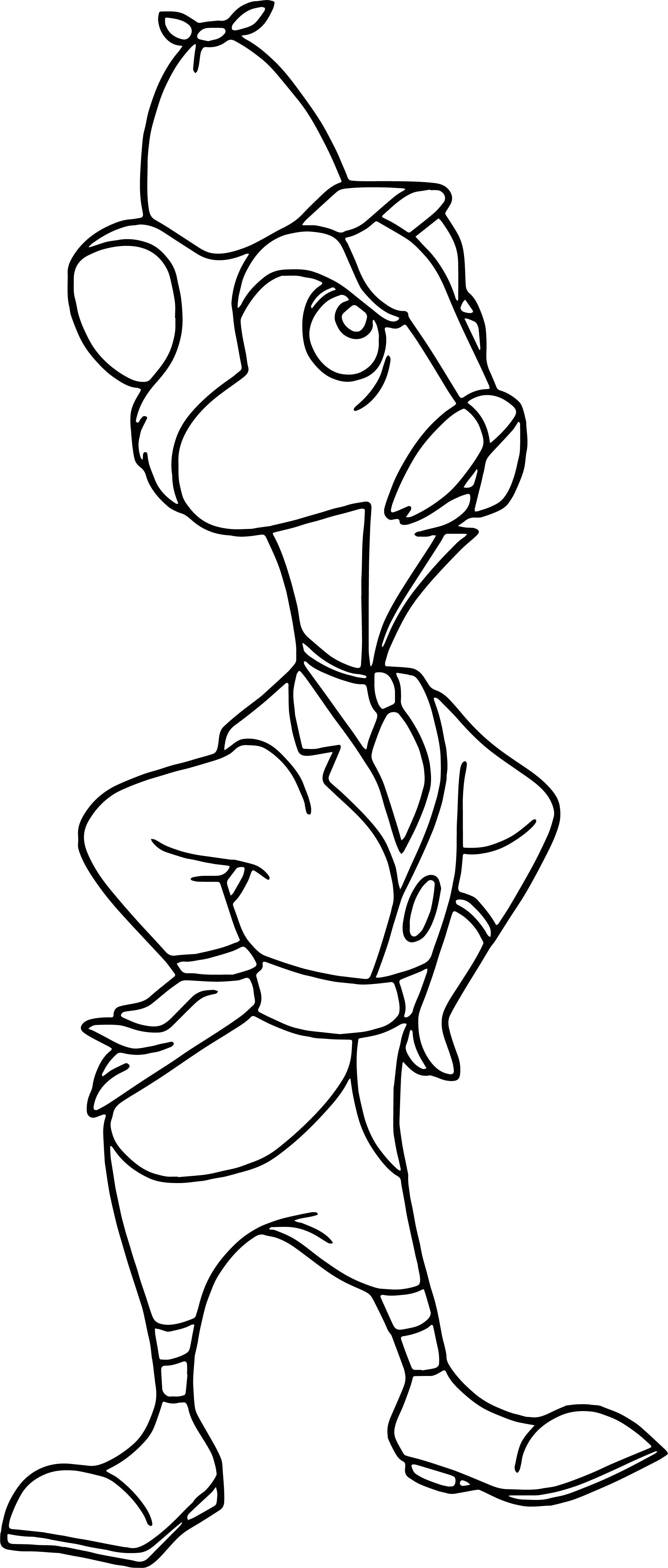 waterrat cartoon coloring page