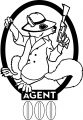 Agent Squirrel Secret Coloring Page