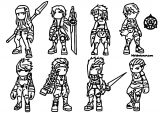 Chibi Characters Design Chlei Cartoonized Coloring Page