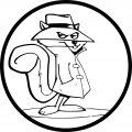 Circle Secret Squirrel Coloring Page