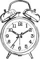 Clock Coloring Page WeColoringPage 015