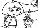 Dora The Explorer And Monkey Picture Coloring Page