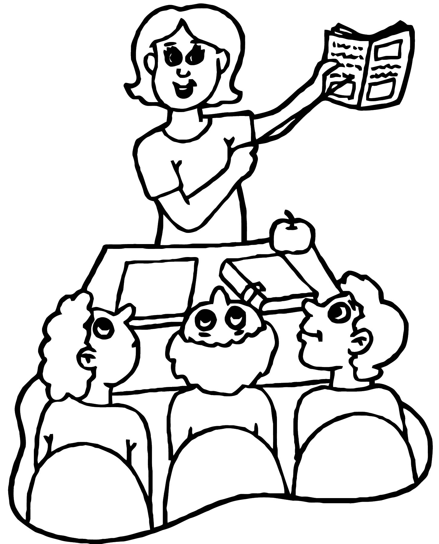 English Teacher We Coloring Page 083