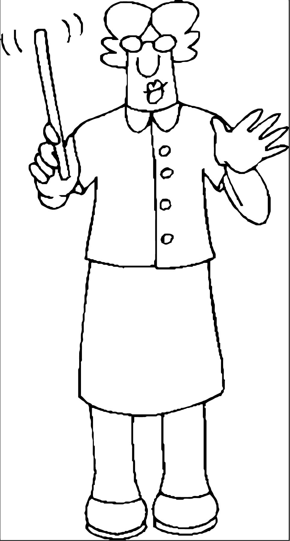 English Teacher We Coloring Page 088