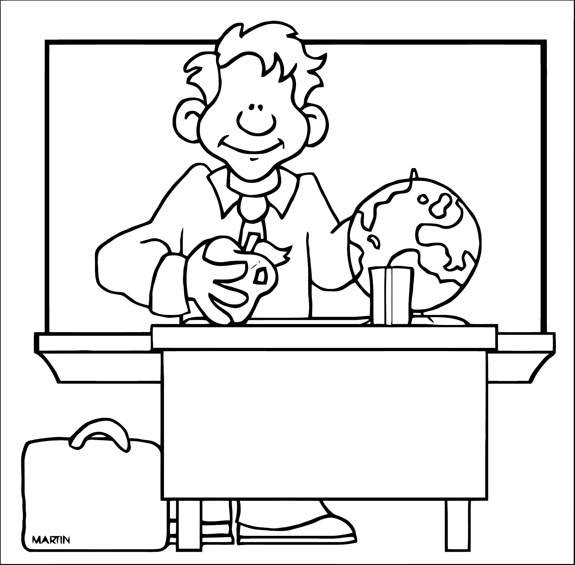 English Teacher We Coloring Page 104