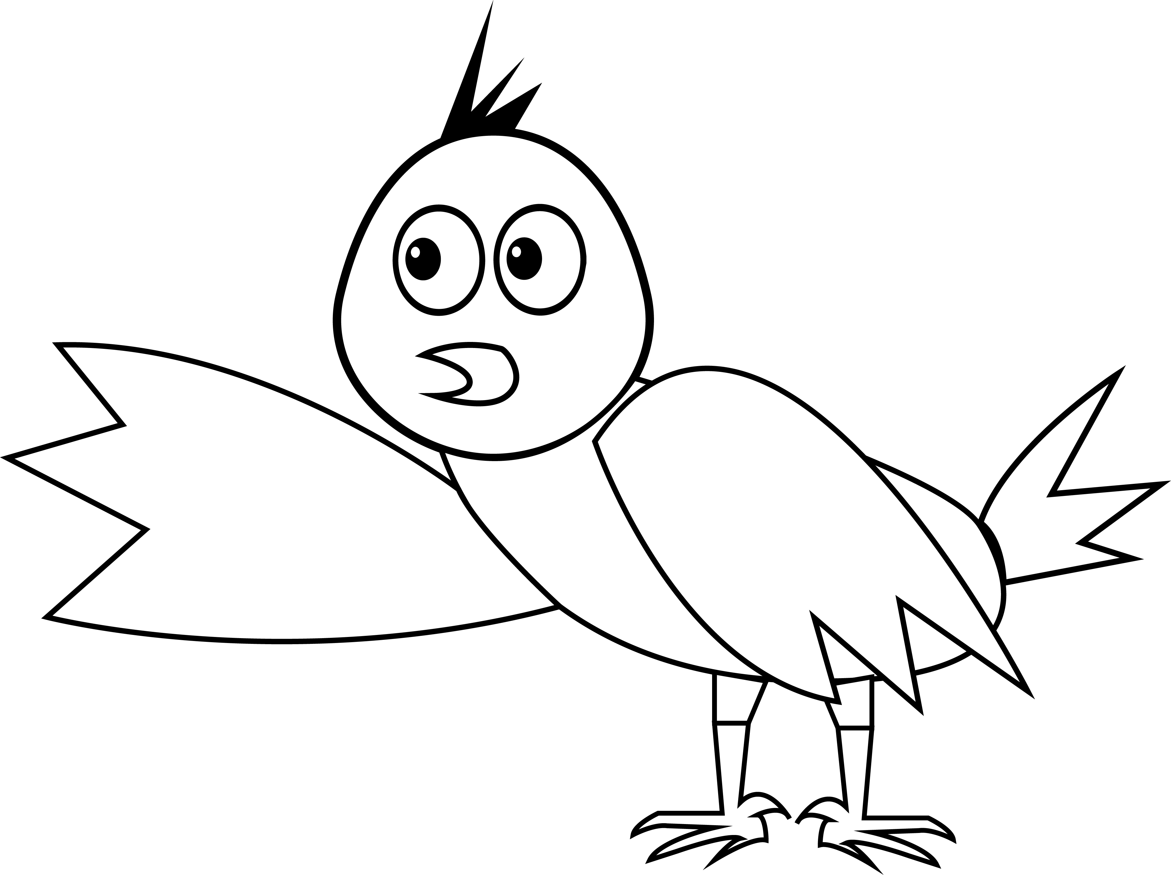 Look This Bird Coloring Page