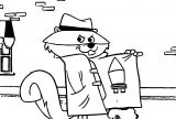 Secret Squirrel Rocket Dress Coloring Page