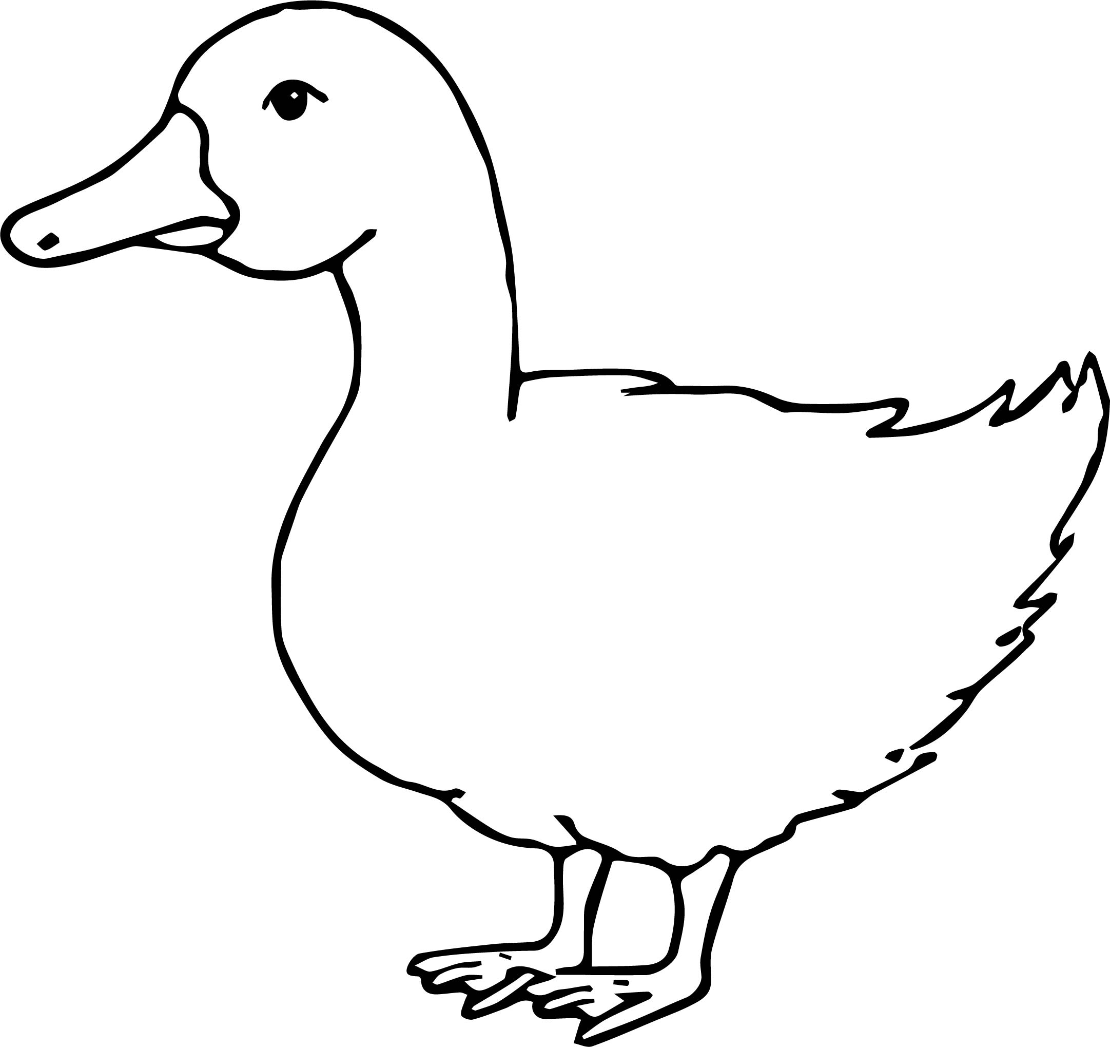 Waiting Duck Coloring Page