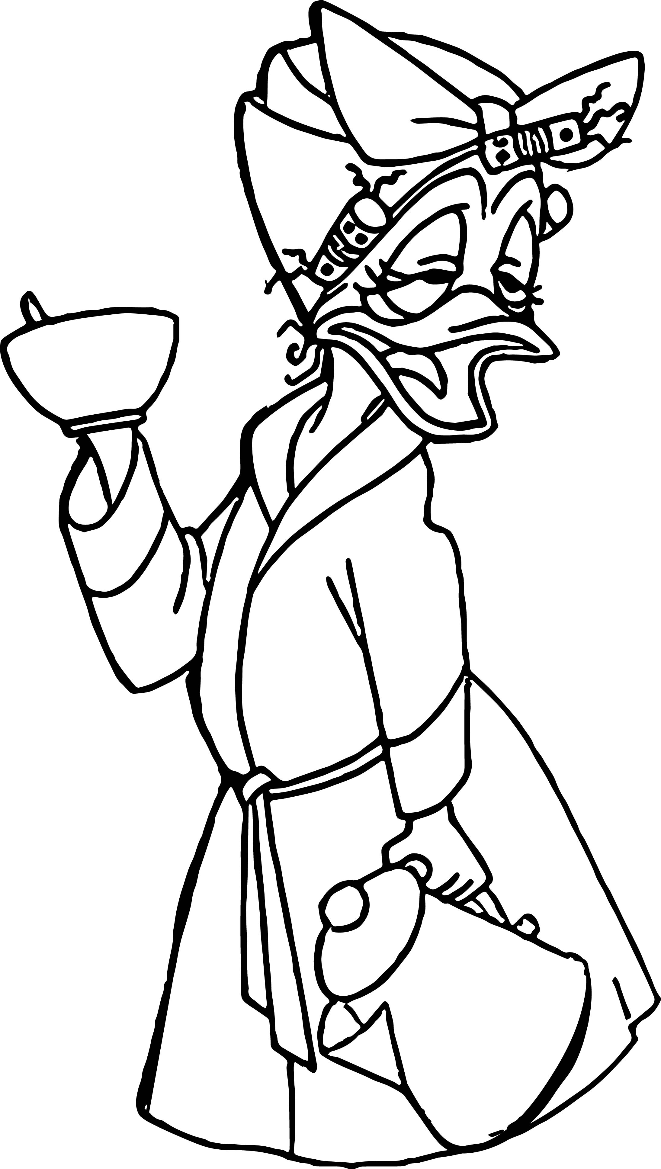 Woman Duck Fatigue Coloring Page