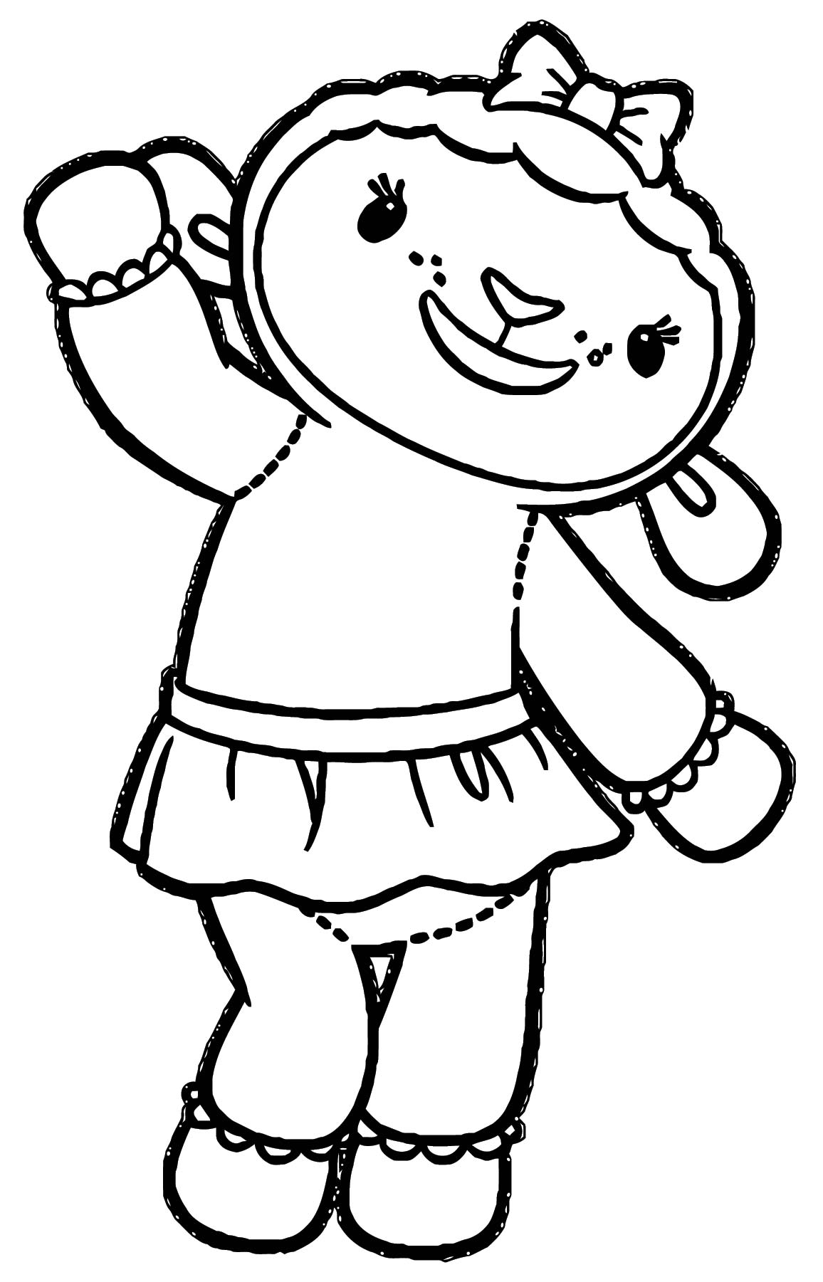 lambie joy sheep coloring page