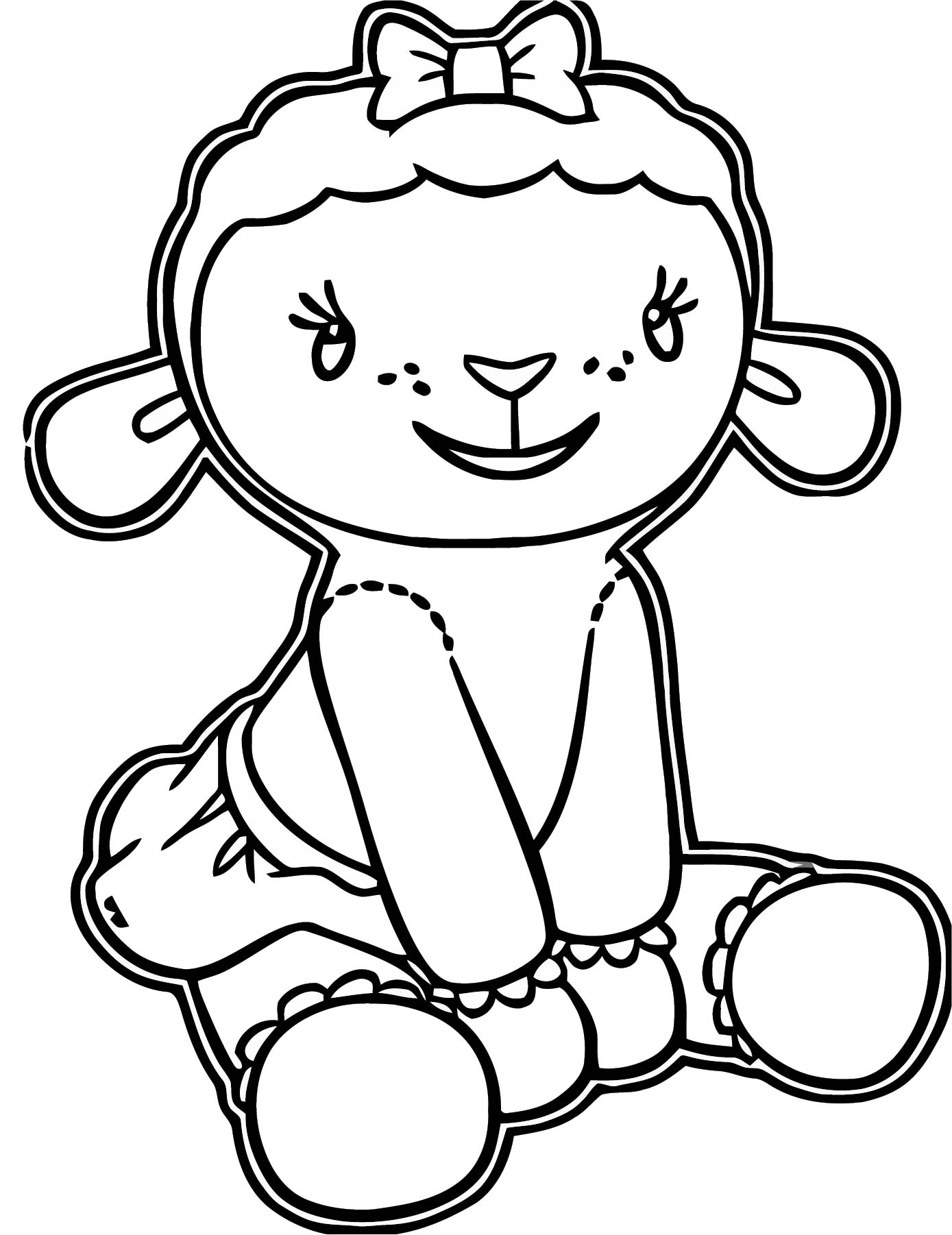 lambie stay doc mcstuffins coloring page
