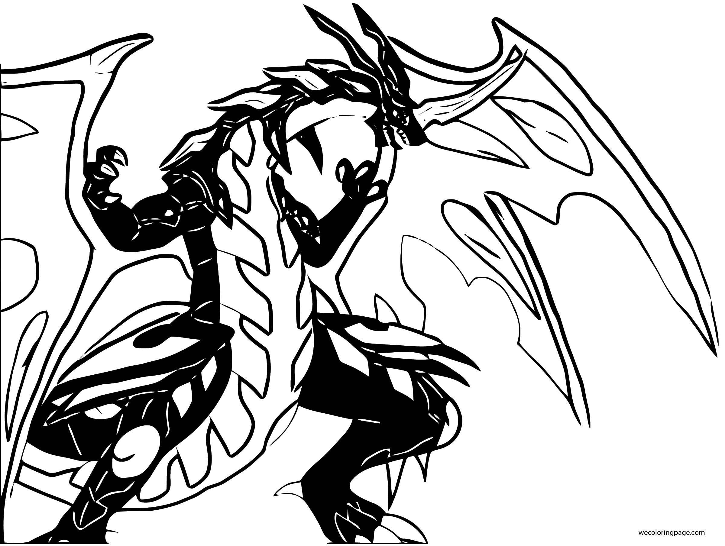 Bakugan Mega The Ultimate Pyrus Dragonoid Coloring Page