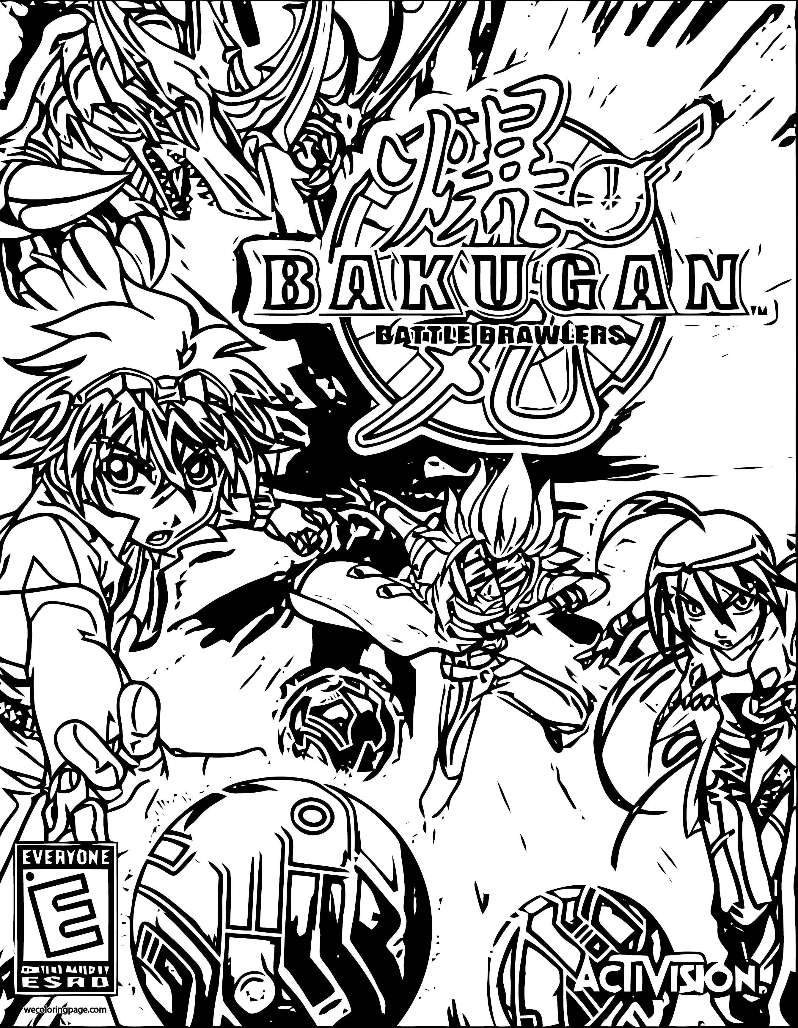 Bakugan Ps3 Coloring Page