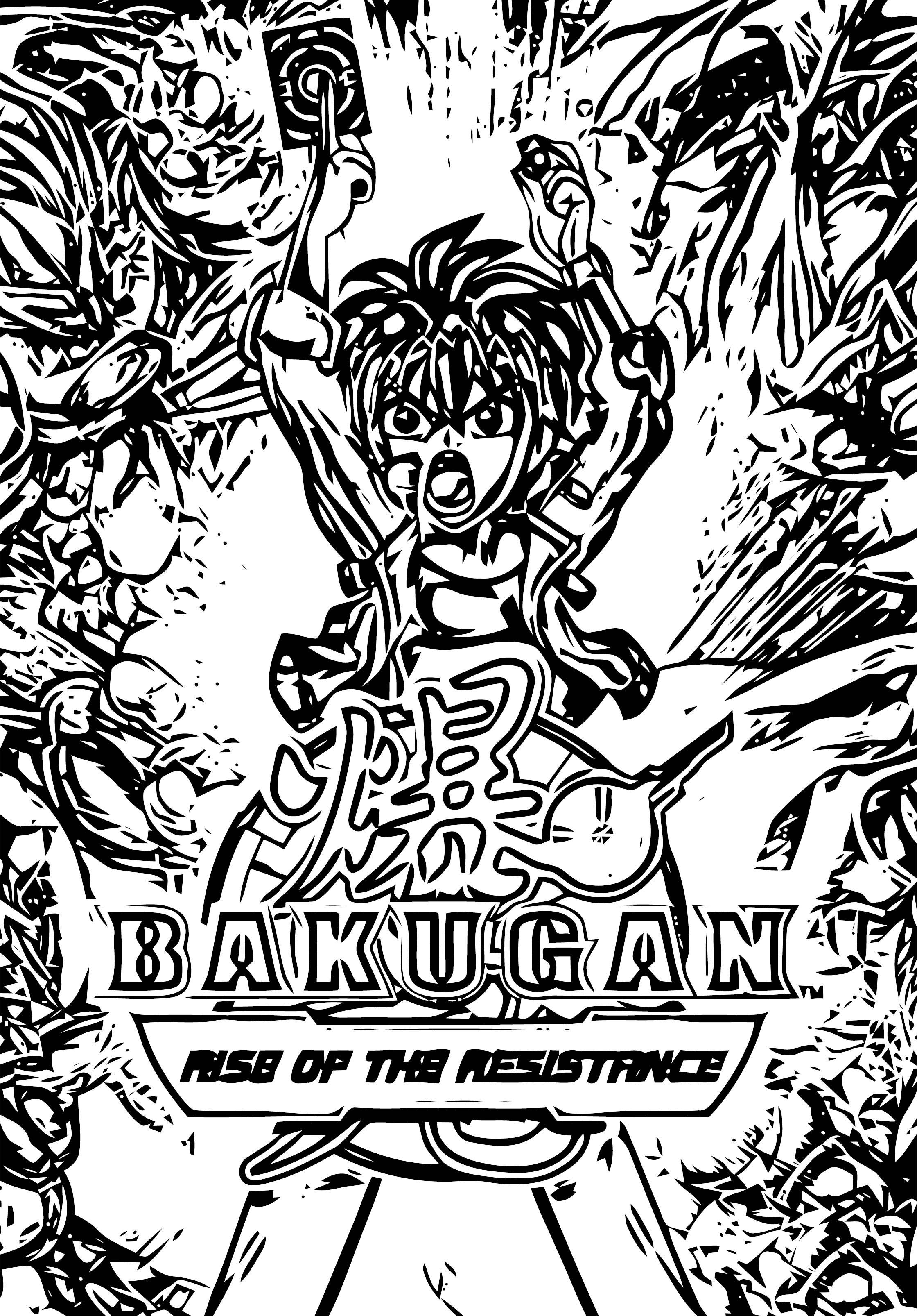 Bakugan Rotr Coloring Page