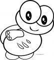 Basic Cartoon Turtle Coloring Page Download