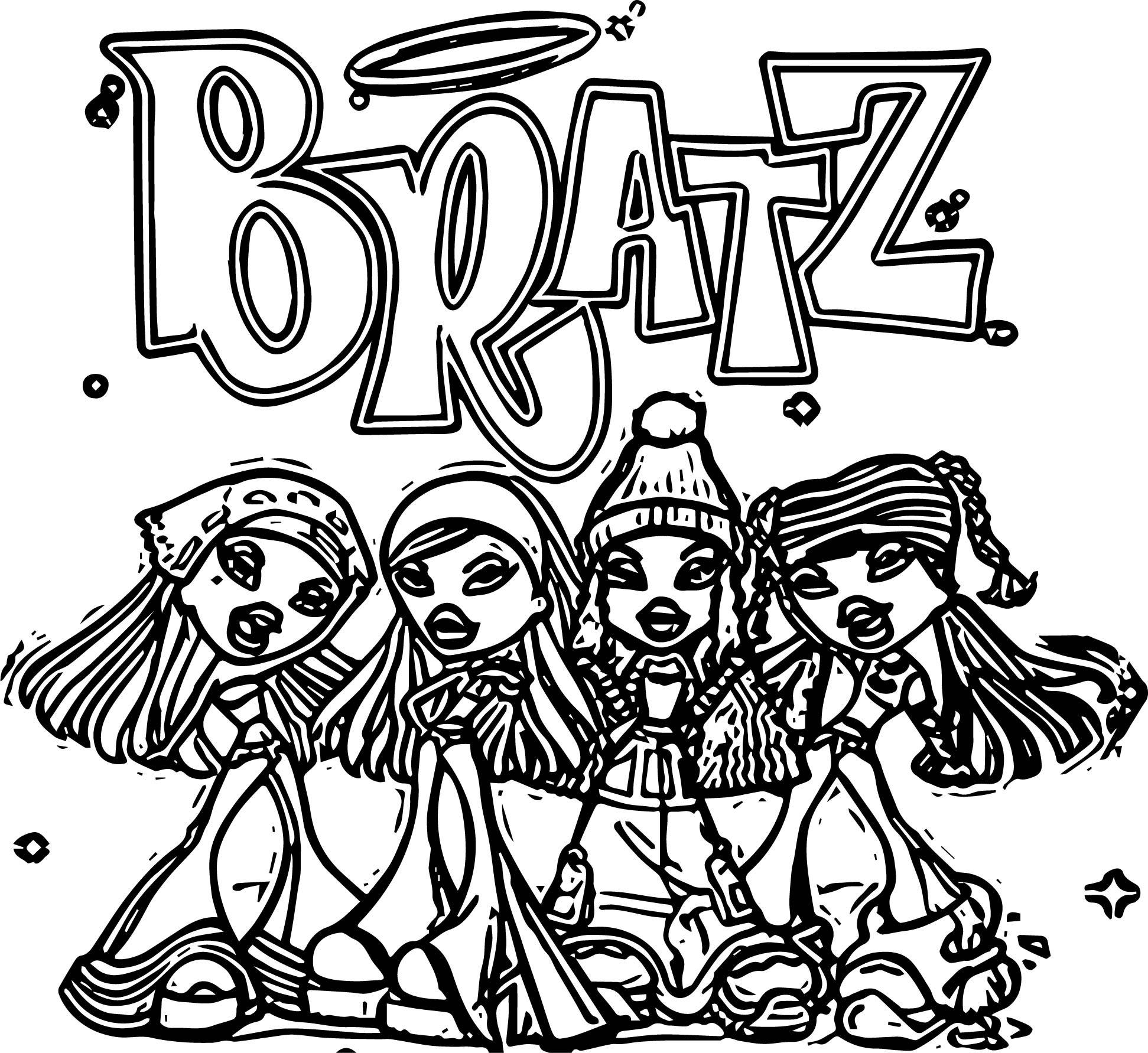 Bratz Coloring Page WeColoringPage 33