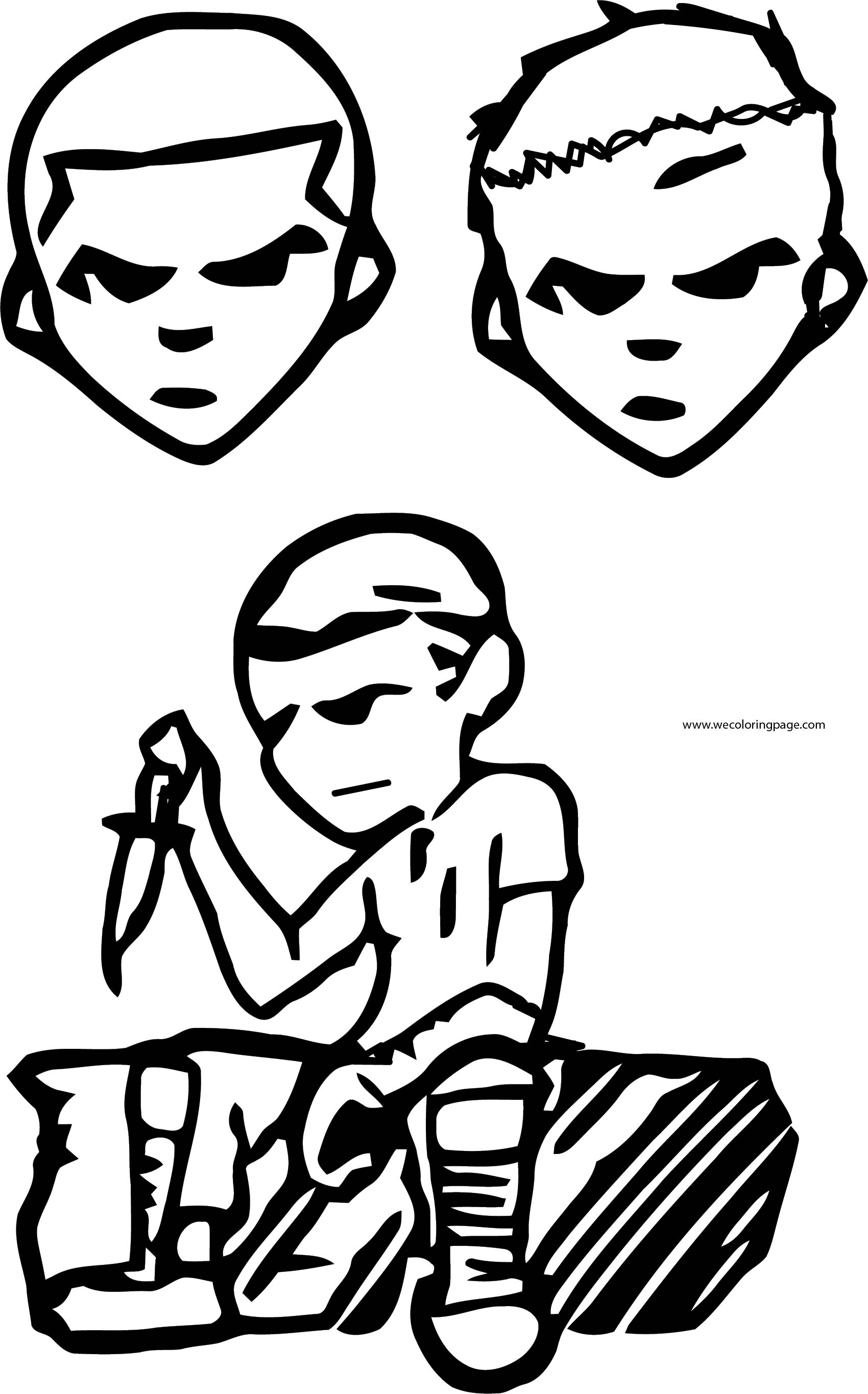 Character Design Contest Archer Leecheezy Bad Boys Face Coloring Page