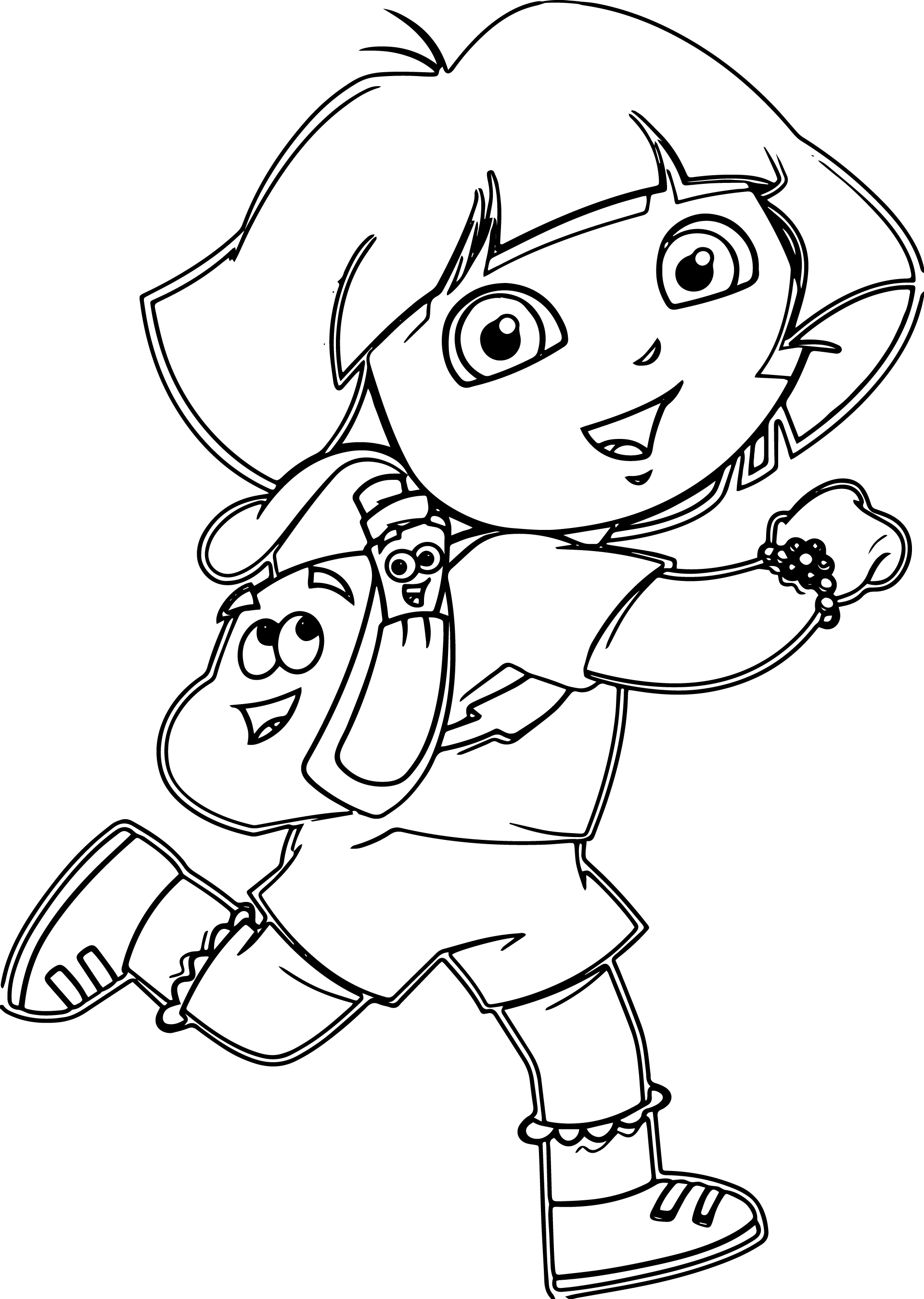 Dora Cartoon Games Coloring Pages | Wecoloringpage.com