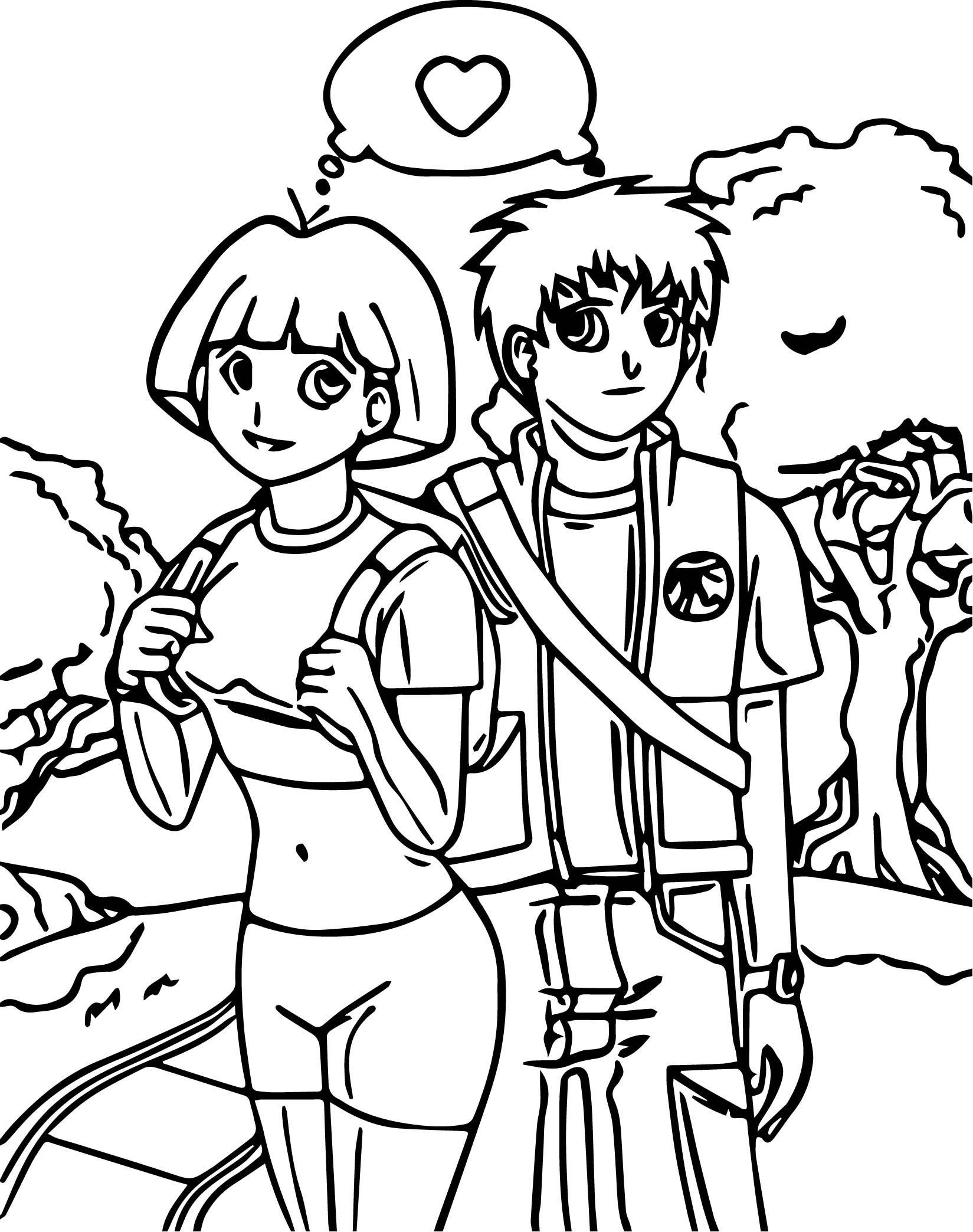 Dora The Explorer Coloring Page 54