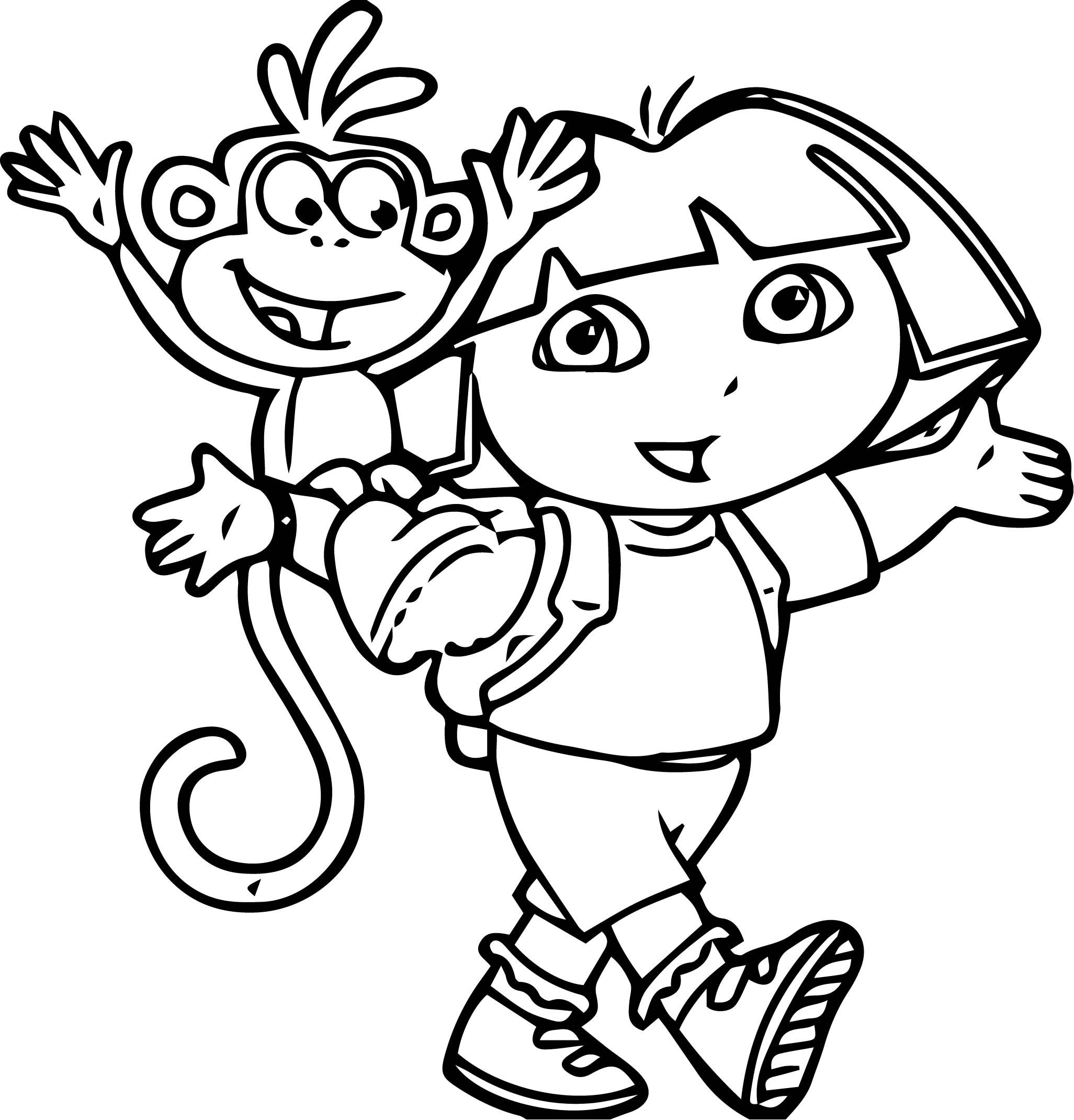 Dora The Explorer Coloring Page 55