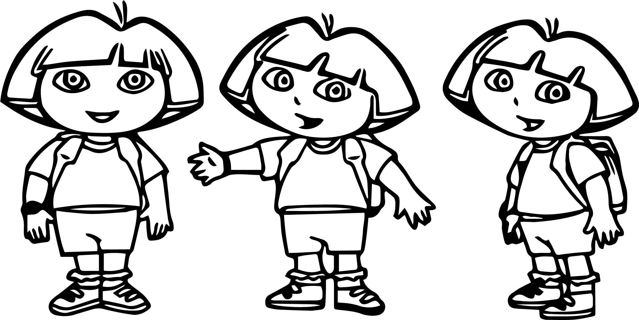 Dora The Explorer Coloring Page 56