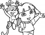 Dora The Explorer Coloring Page 57
