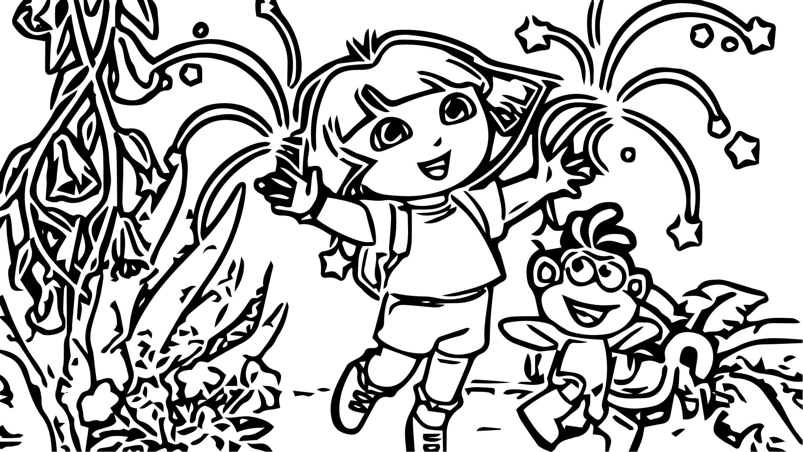 Dora The Explorer Coloring Page 62