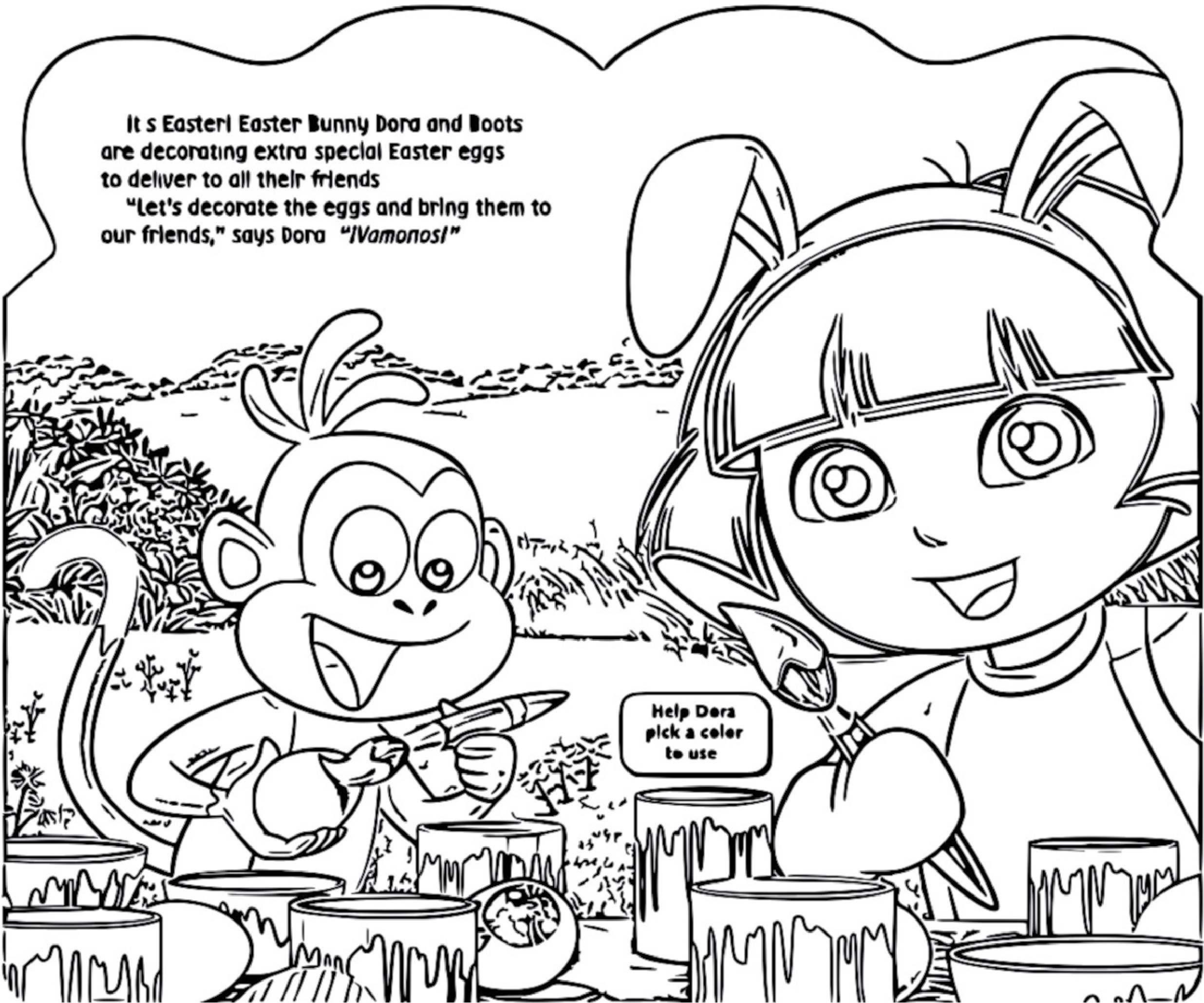 Dora The Explorer Dora Loves Easter! 9780794430320.In01 Cartoonized