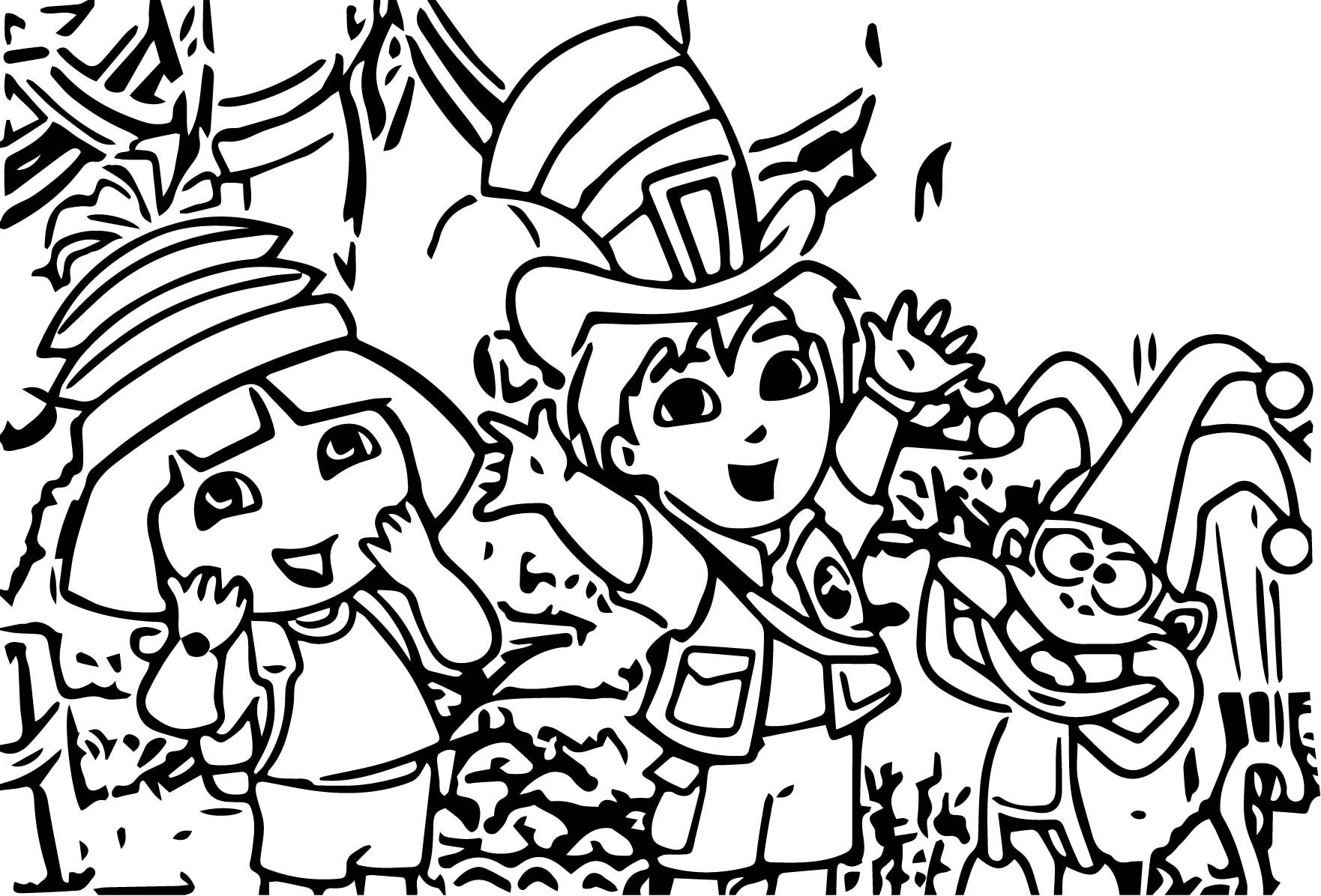Dora The Explorer Fiesta Coloring Page