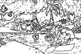 Dora The Explorer In The Sea Coloring Page
