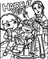 Dora The Explorer Its Haircut Coloring Page