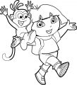Dora The Explorer Jogging Street Coloring Page