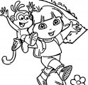 Dora Vespa Adventure Coloring Page