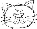 Face Cat Free Image Coloring Page