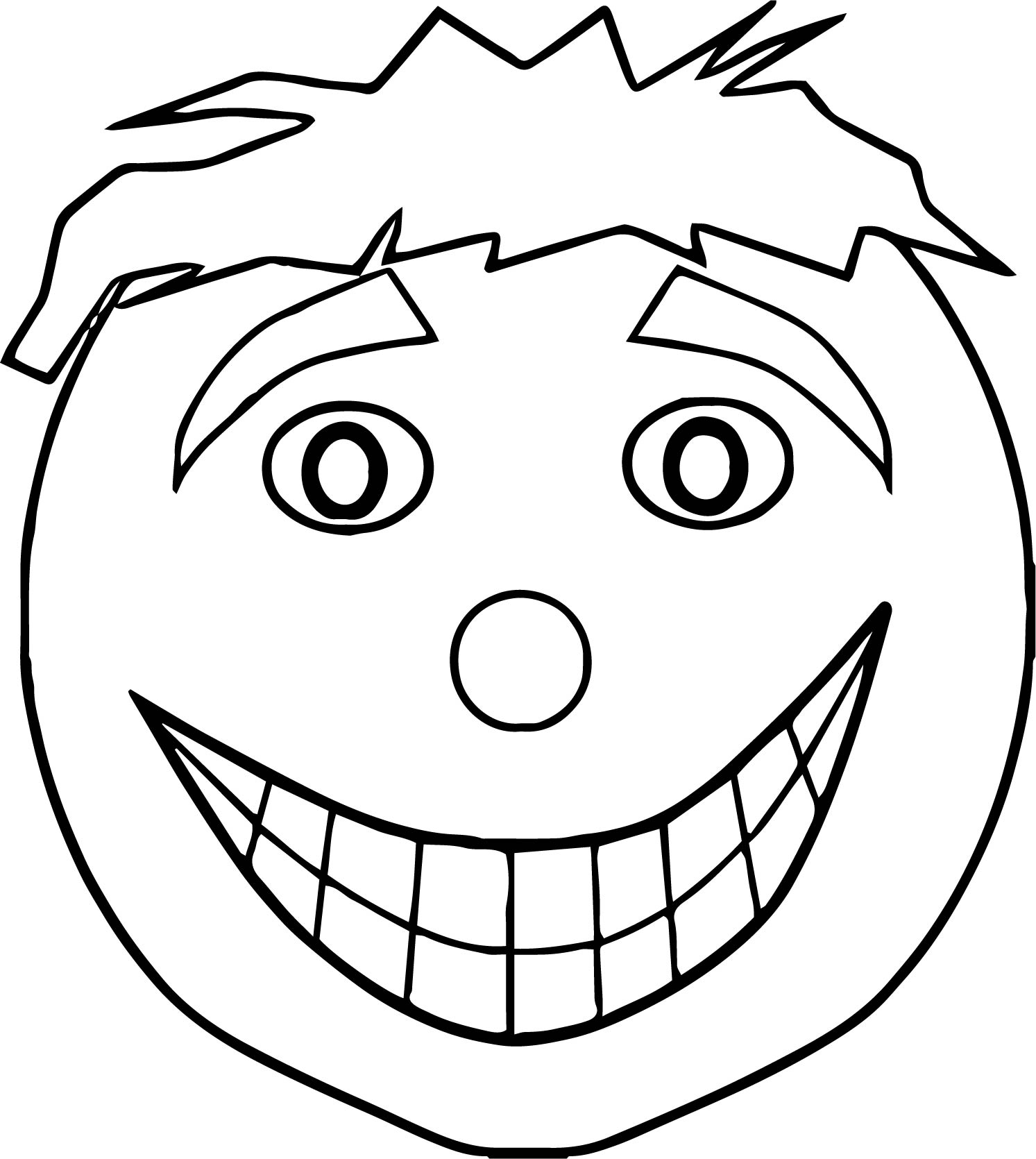 Face Clown Coloring Page