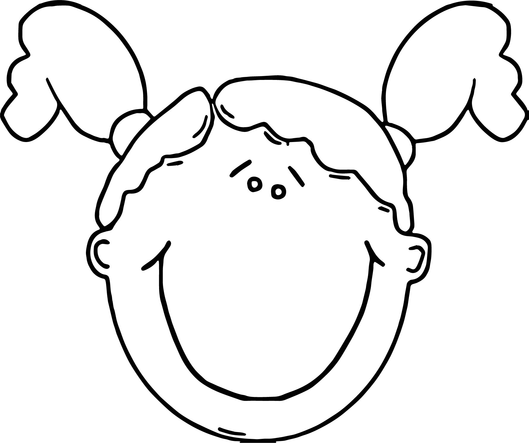 Face Girl Face Hair Just Free Coloring Page