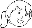 Face Girl Perspective Thinking Image Free Coloring Page
