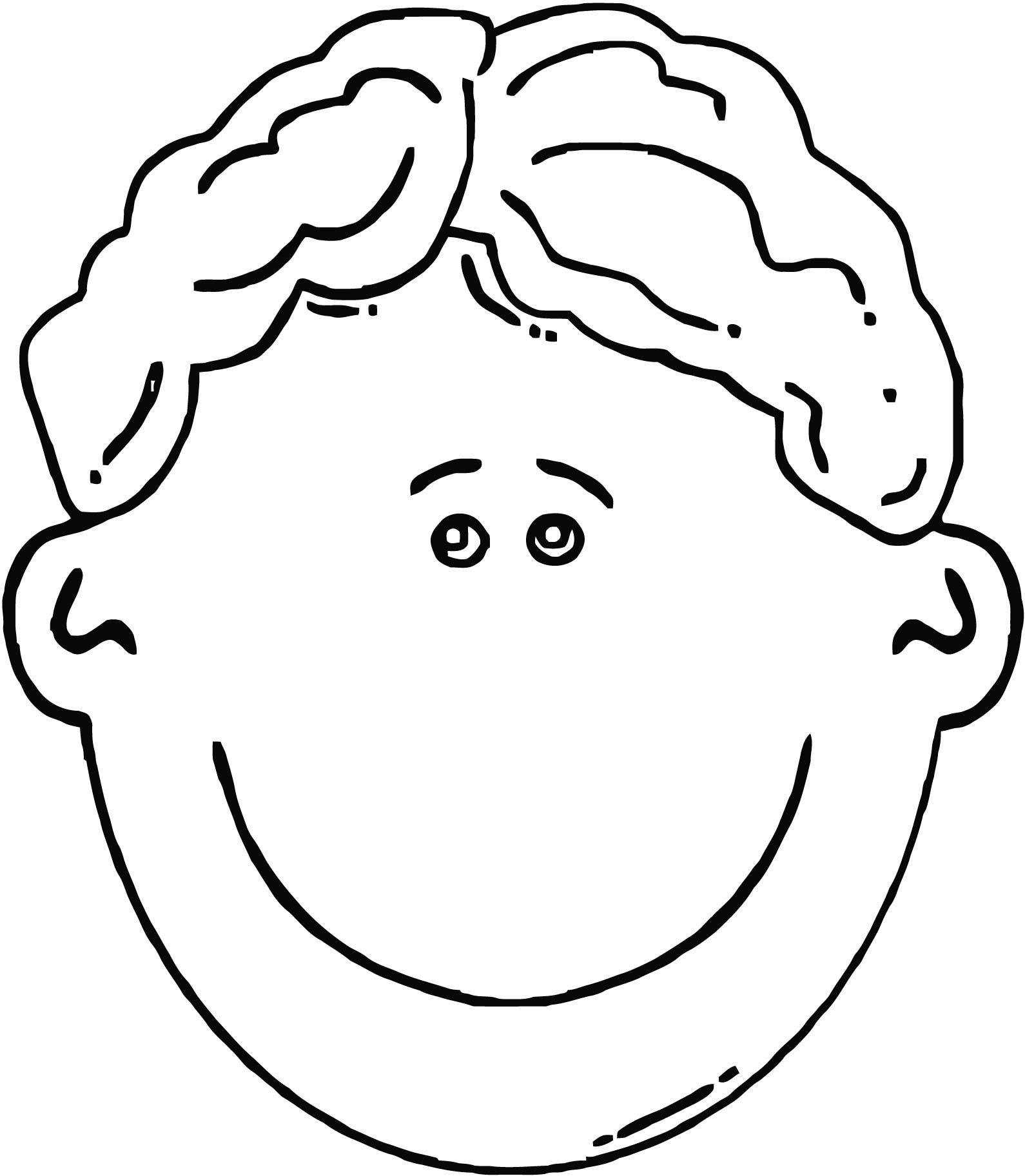 Face Girl Smiley Face Boy Face Cartoon Clip Art Coloring Page