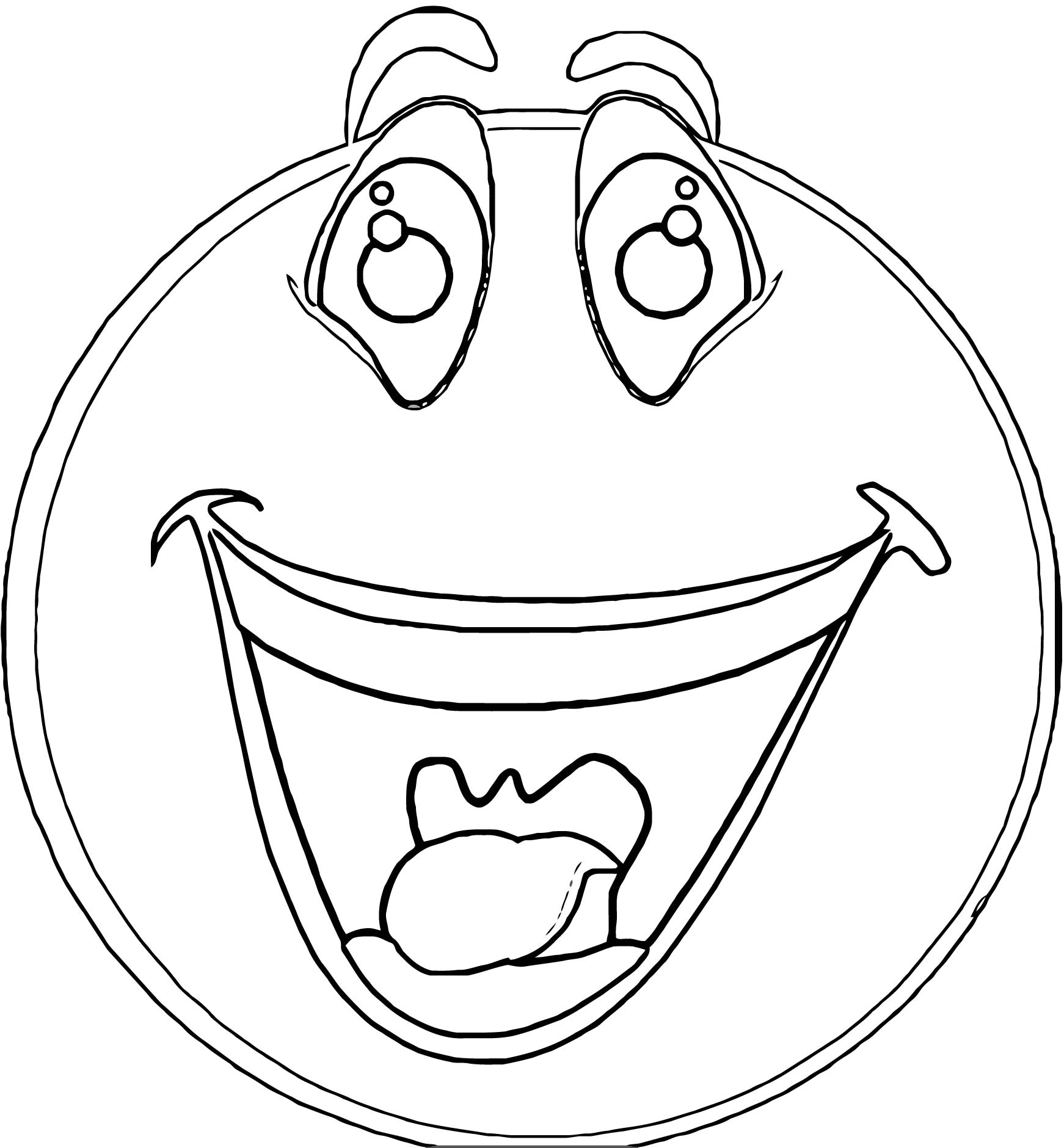 Face Happy Face Coloring Page