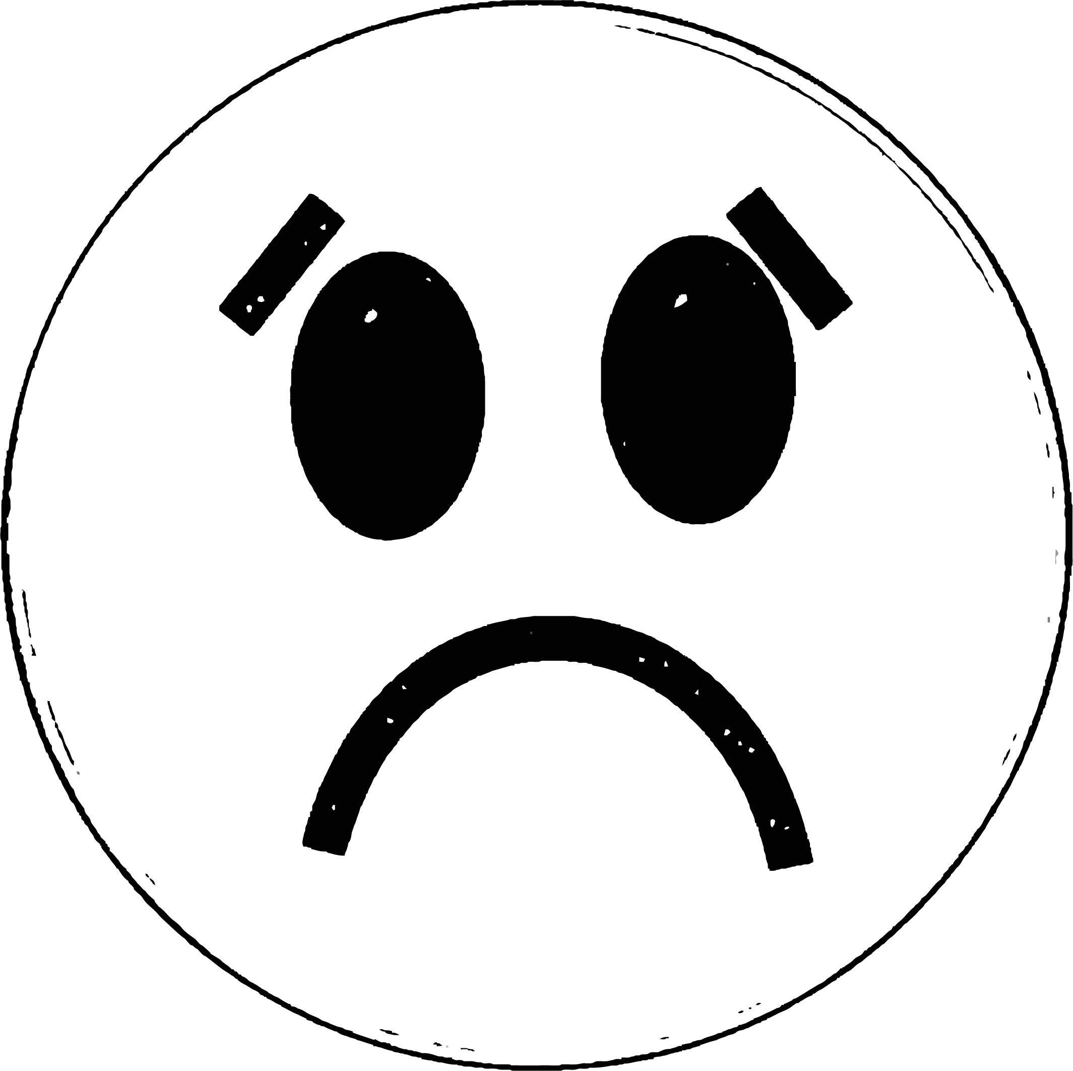 Face Happy Face Sad Face 010 Coloring Page