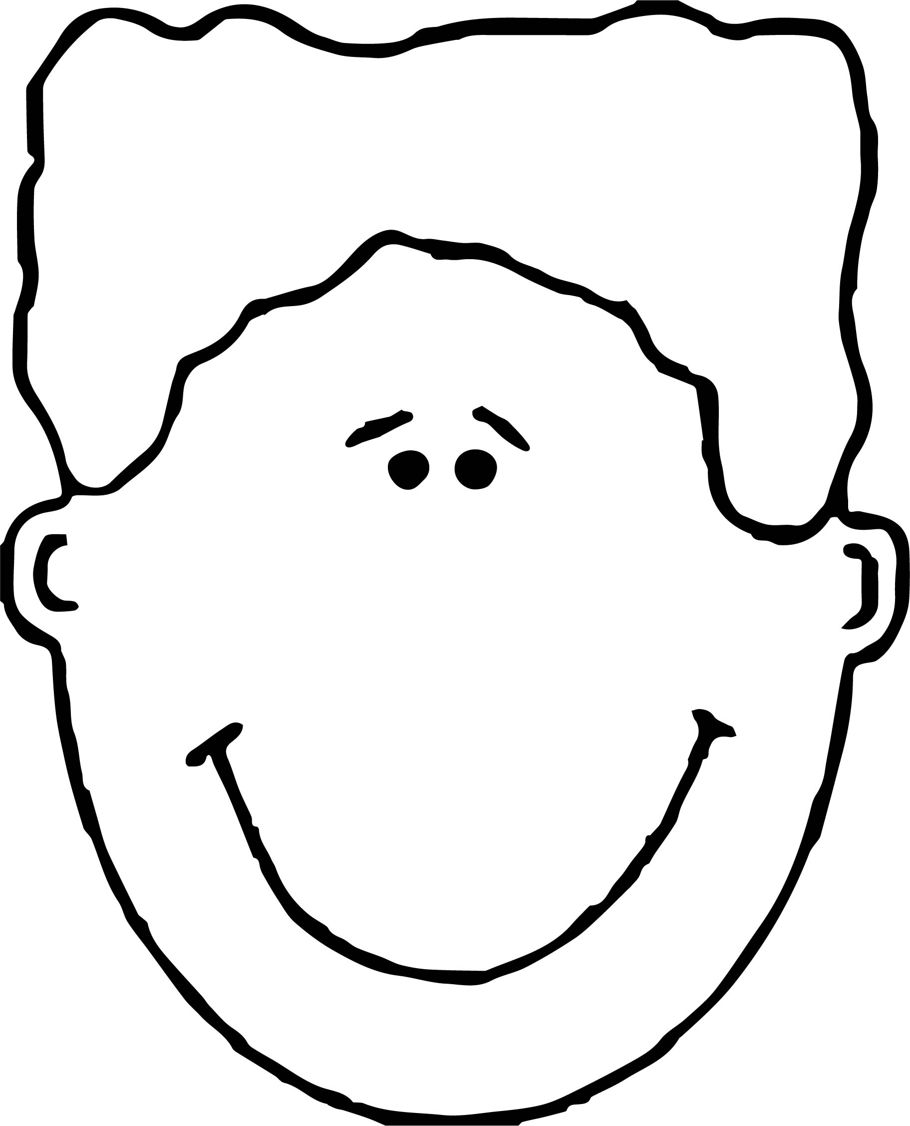 Face Images Coloring Page 02