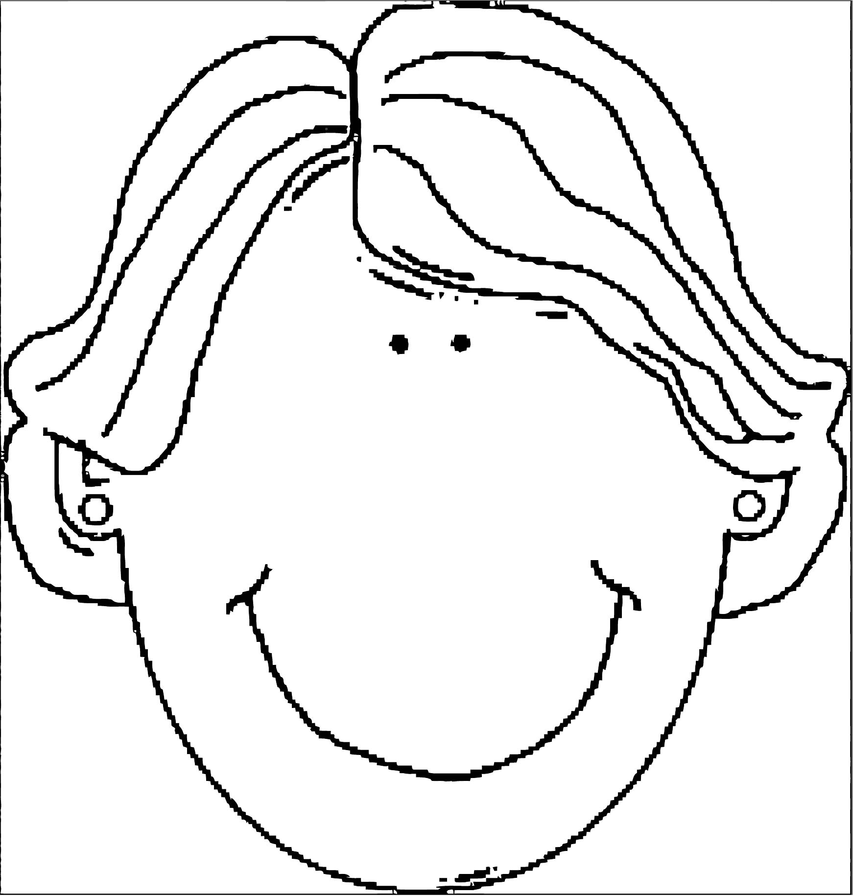 Face Images Coloring Page 06