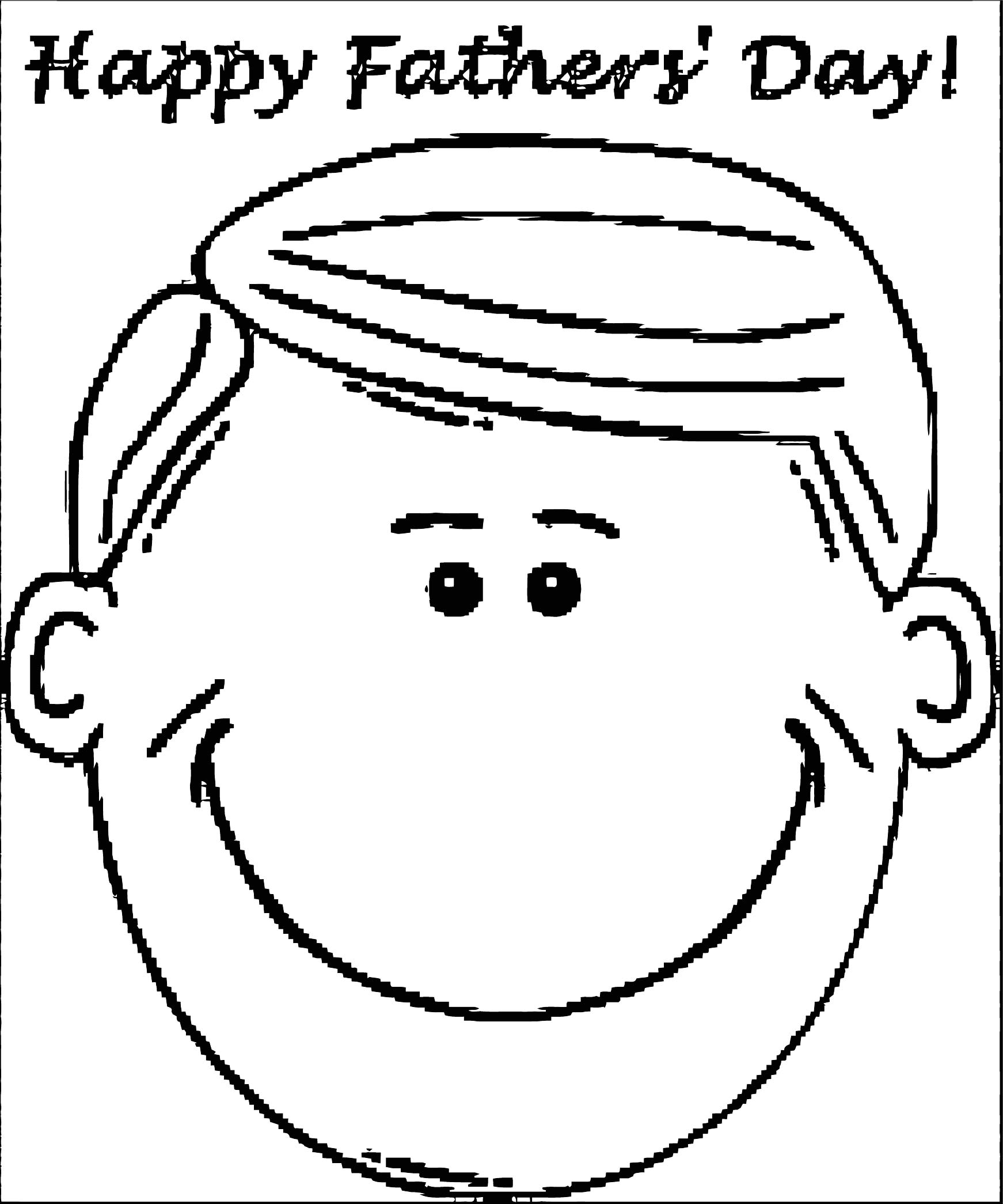 Face Images Coloring Page 07