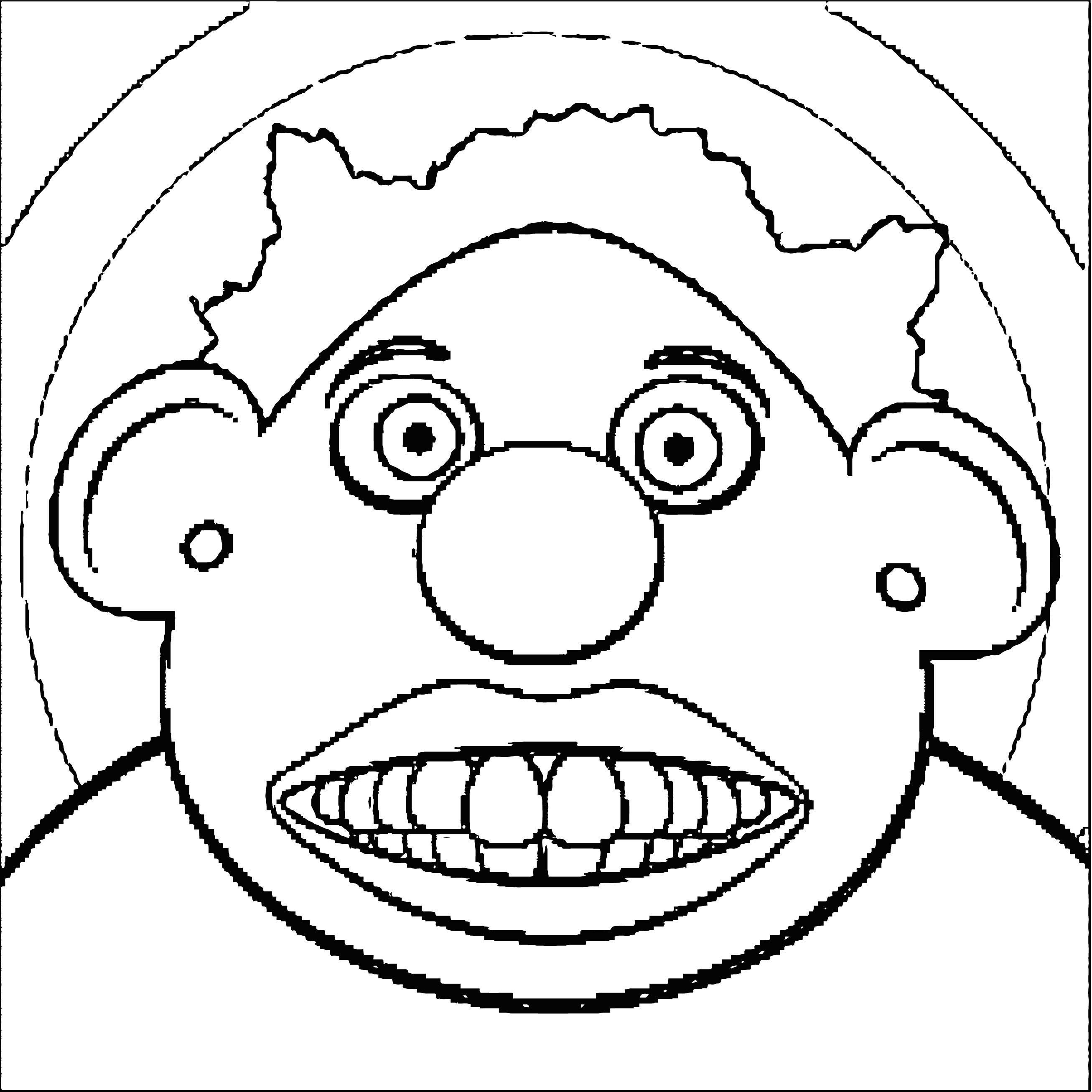 Face Images Coloring Page 10