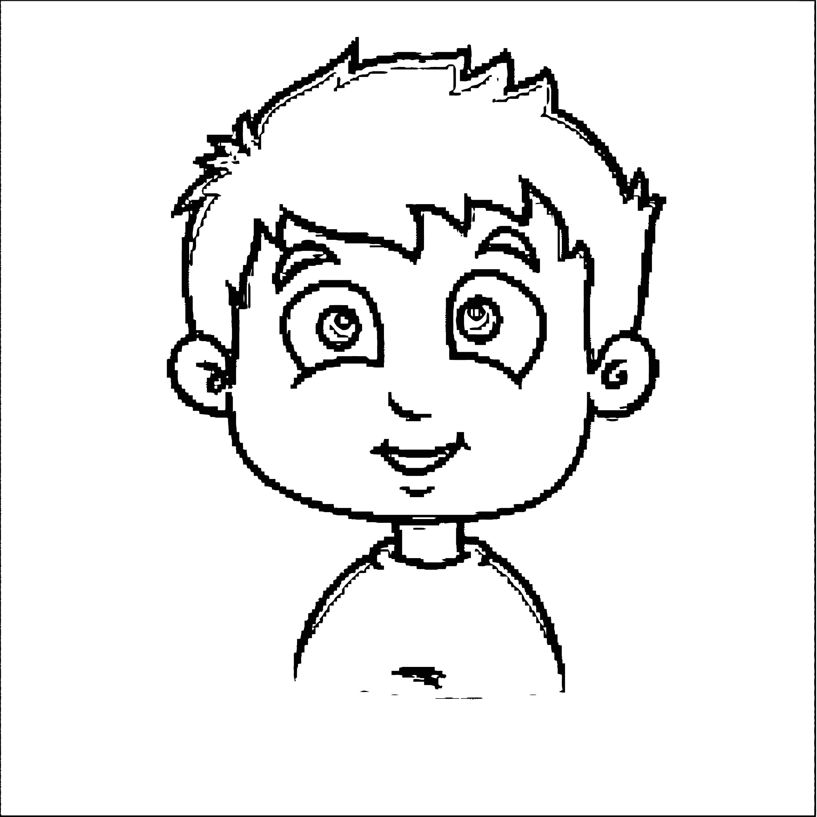 Face Images Coloring Page 11