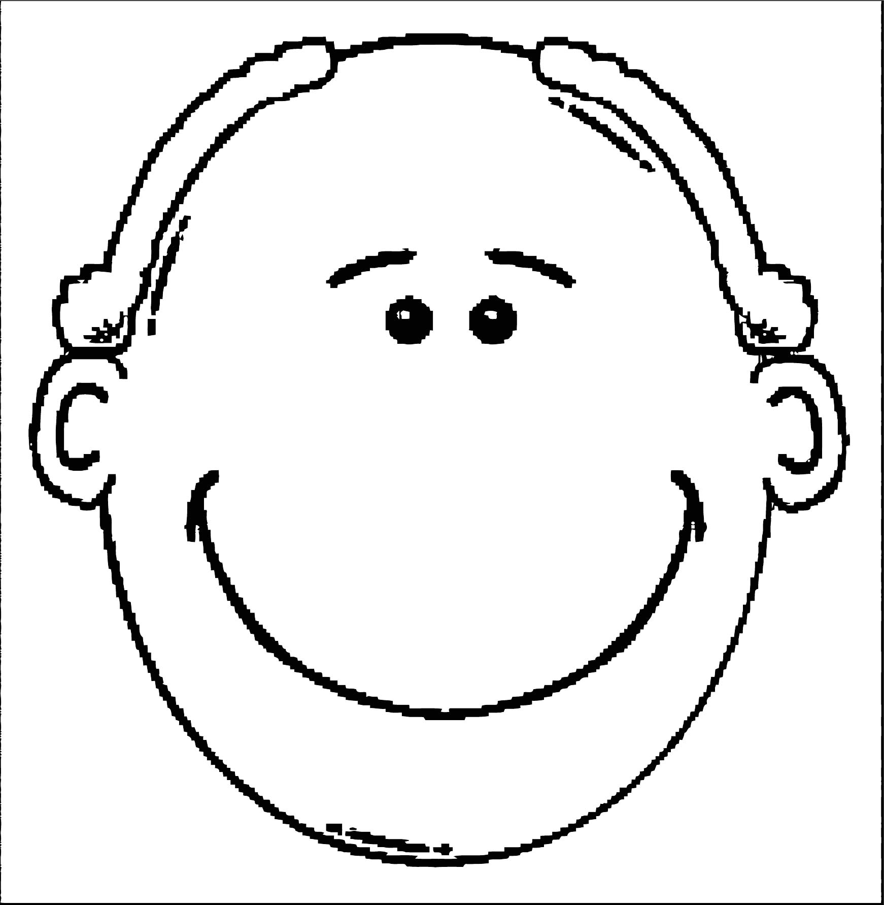 Face Images Coloring Page 14