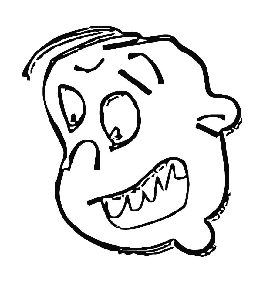 Face Images Coloring Page 19