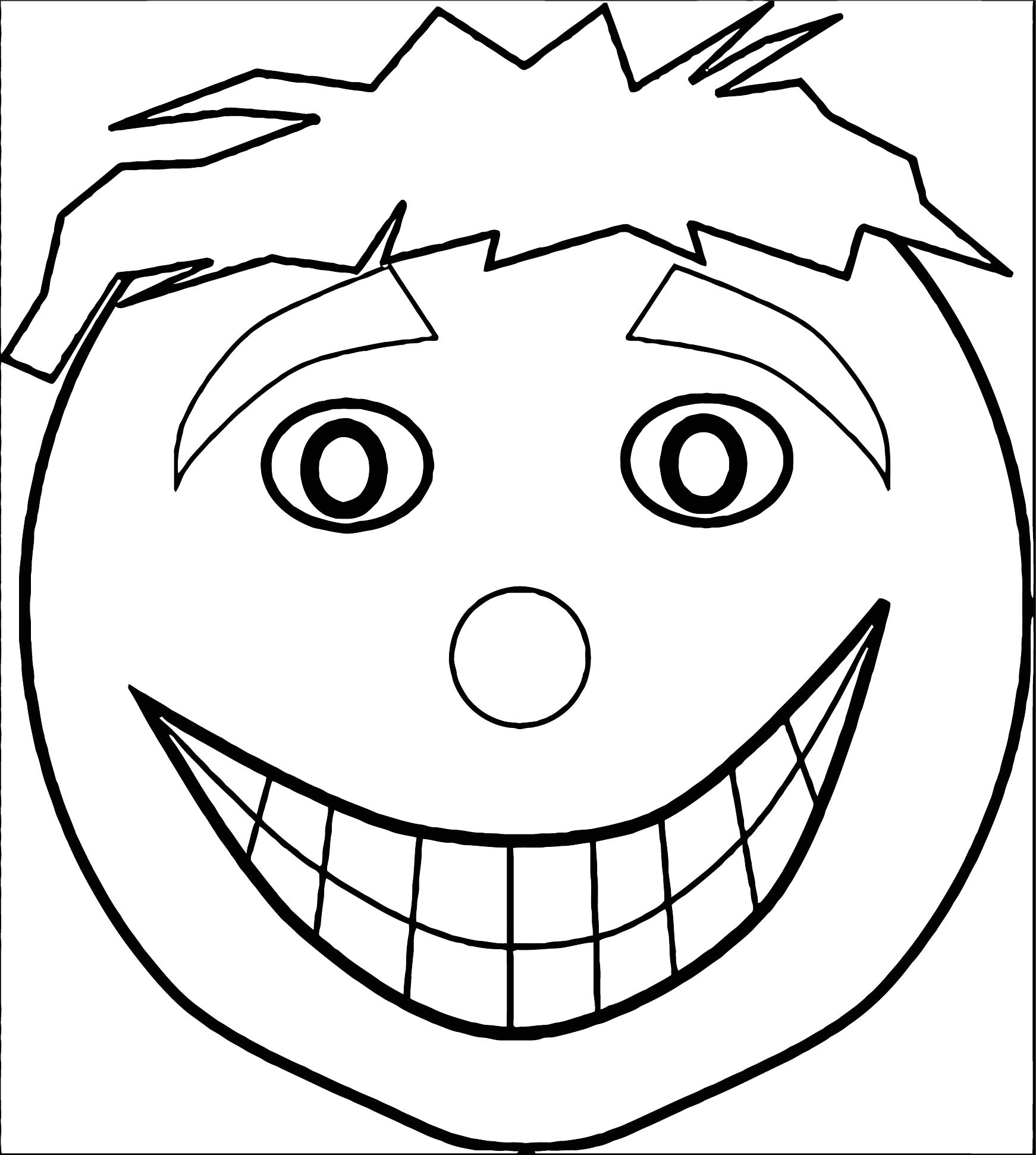 Face Images Coloring Page 27