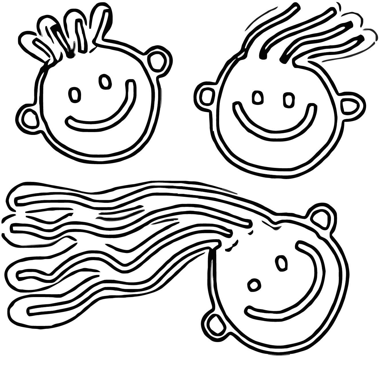 Face Kinder Gesichter Kostenloses Stock Bild Public Domain Coloring Page