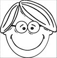 Face Ledger Boy Face Cartoon Clip Art Coloring Page